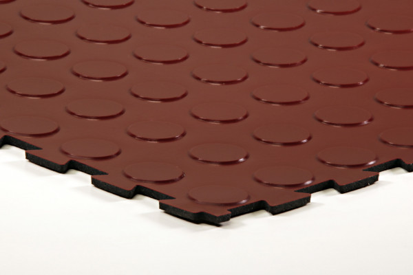 sagu® flooring – Gummiliesen-Designbelag oxidrot