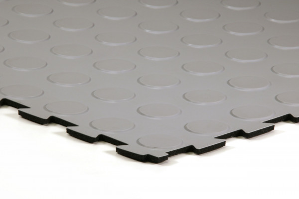 sagu® flooring – Gummifliesen-Designbelag coolgrau
