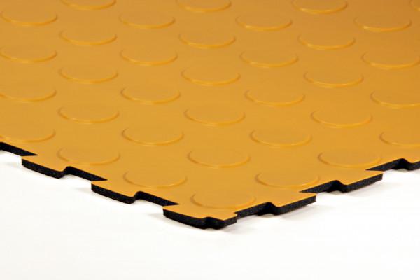 sagu® flooring – Gummiliesen-Designbelag sunsetgelb