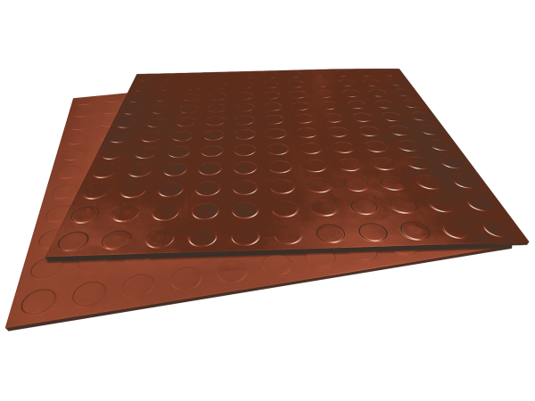Gummifliesen-Designbelag glatt oxidrot