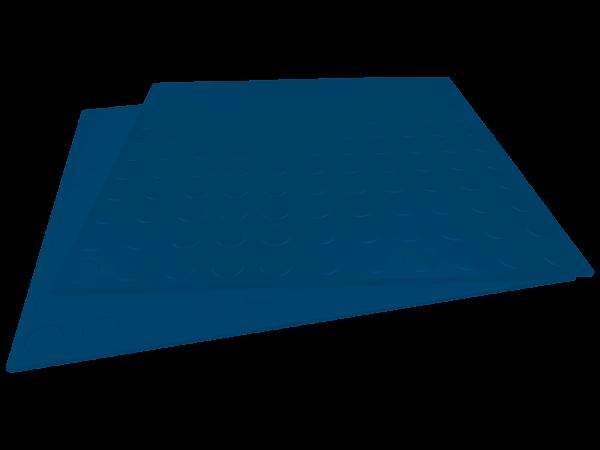 Gummifliesen-Designbelag glatt marineblau